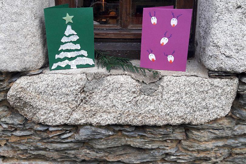 Weihnachtskarten basteln | Lernbienen bloggen