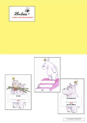 Übungs-Kartei: Adjektive steigern mit dem Nilpferd (DL) DL