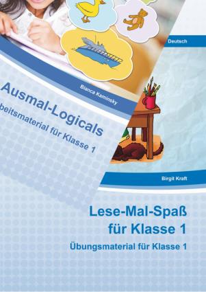 Ausmal-Logicals/Lese-Mal-Spaß Klasse 1 Kombipaket