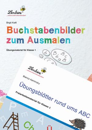Buchstabenbilder zum Ausmalen/Übungsblätter ABC Kombipaket DL