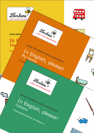 "English ""The city"", ""My home"", ""Colours"" Kombipaket DL"