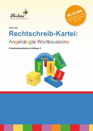 Rechtschreib-Kartei: Angehängte Wortbausteine Set