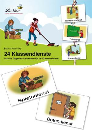 24 Klassendienste. Schöne Organisationskarten für Ihr Klassenzimmer KS