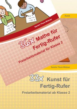 36x Mathe Fertig-Rufer/33x Kunst Fertig-Rufer Kombipaket