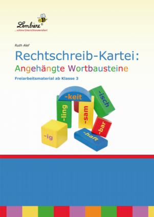 Rechtschreib-Kartei: Angehängte Wortbausteine - Restauflage