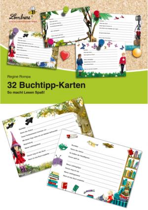 32 Buchtipp-Karten KS