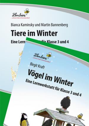 Vögel im Winter / Tiere im Winter Kombipaket DL