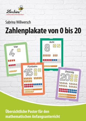 Zahlenplakate von 0 bis 20 PS