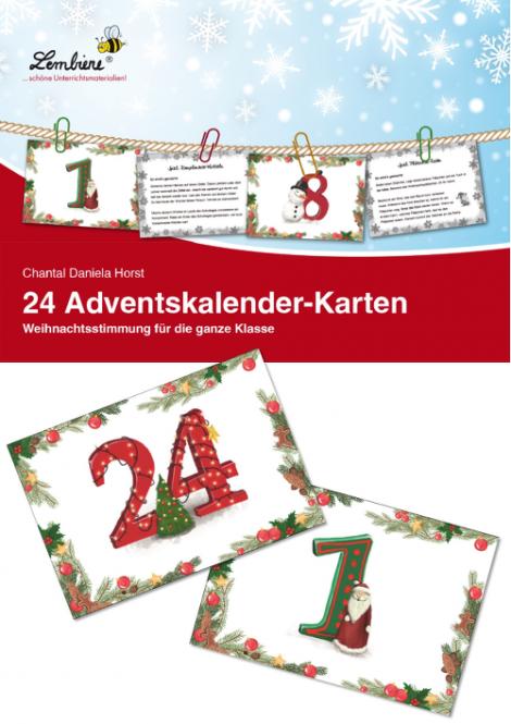 24 adventskalender karten lernbiene verlag. Black Bedroom Furniture Sets. Home Design Ideas