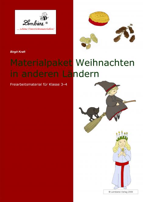 materialpaket weihnachten in anderen l228ndern lernbiene