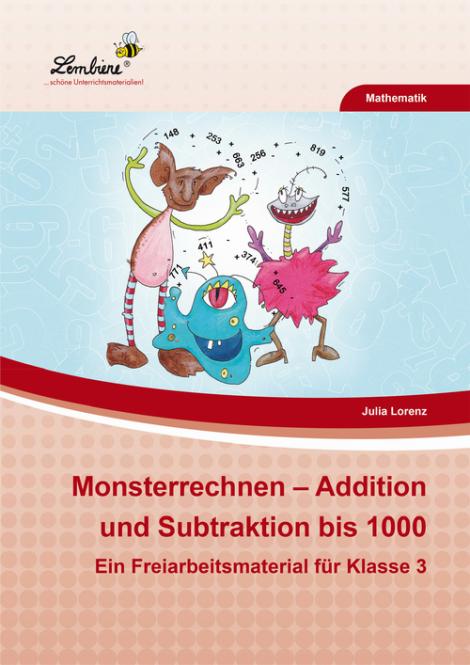 Monsterrechnen u2013 Addition und Subtraktion bis 1000 ...