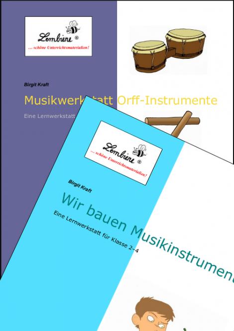 Orff-Instrumente/Wir bauen Musikinstrumente Kombipaket DL