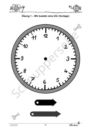 Von Stunden und Minuten: Materialpaket Uhrzeiten PR