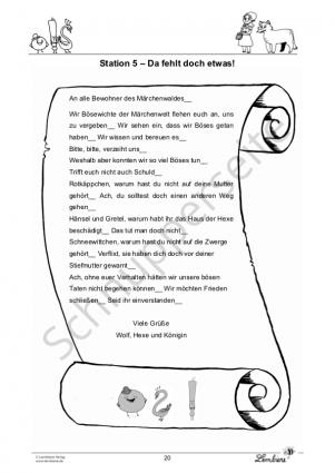 Satzzeichen auf Märchenreise PR