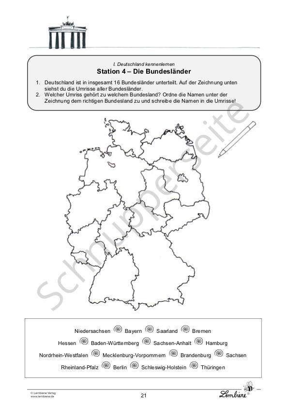 Wappen Bundesländer Deutschland Grundschule
