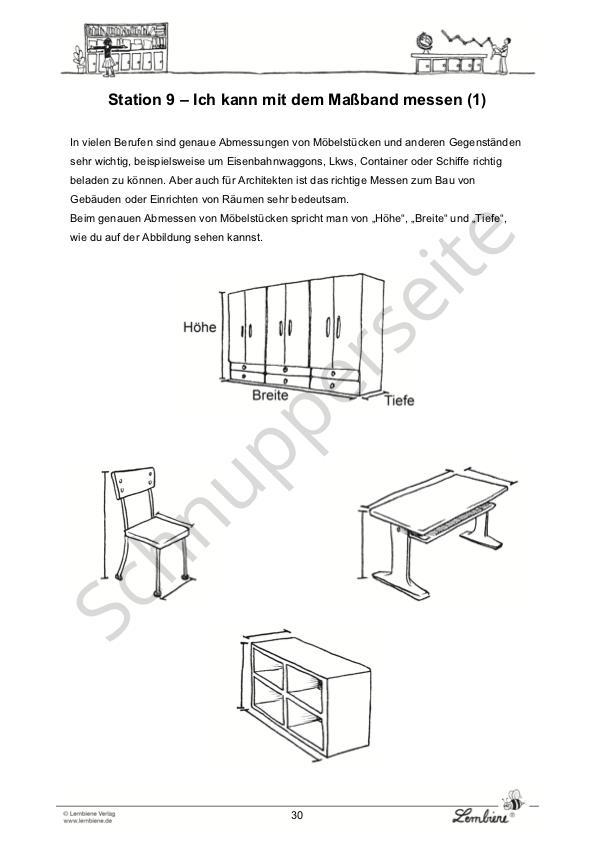 l ngen messen und berechnen lernbiene. Black Bedroom Furniture Sets. Home Design Ideas